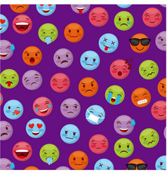 Emoticon faces design vector