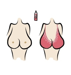 Female breast sketch for your design vector image