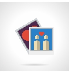Flat color family photo icon vector