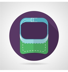 Flat round icon for sport visor vector