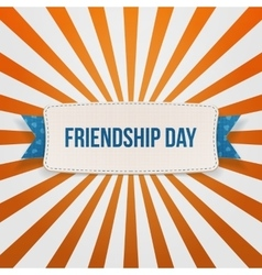 Friendship Day Badge with Ribbon and Shadow vector