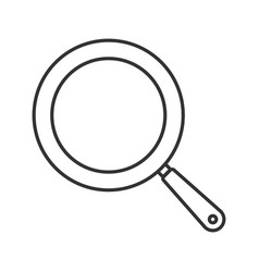 Frying pan linear icon vector