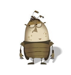 funny big bug cartoon vector image