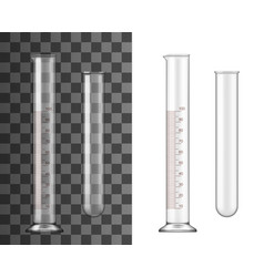 Glass test tube chemistry realistic flask vector