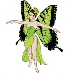 green fairy vector image
