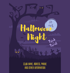 halloween poster design template vector image