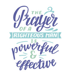 Hand lettering with inspirational quote prayer vector