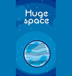 Huge space card vector