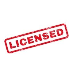 Licensed Rubber Stamp vector image