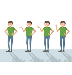 Man male person funny cartoon casual in various vector