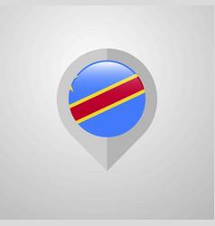 map navigation pointer with comoros flag design vector image