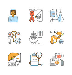 medical symbols isolated vector image