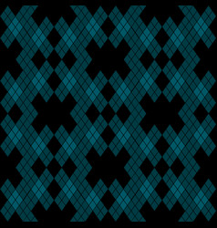 Mint blue green tartan vintage seamless on black vector
