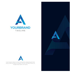 modern a logo template vector image