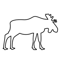 Moose elt icon black color flat style simple image vector
