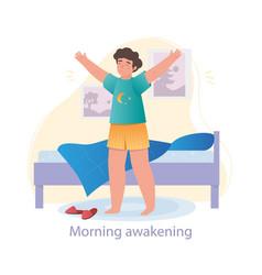 Morning awakening concept vector