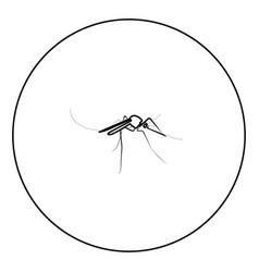 Mosquito icon black color in circle vector