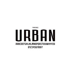 narrow sans serif font in urban style vector image