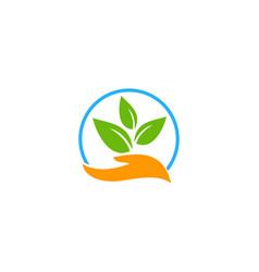 nature care logo icon design vector image