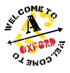 Oxford stamp rubber grunge vector