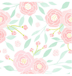 Pastel peony background vector