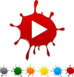 Play blot vector image