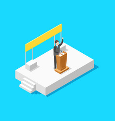 Politician business concept 3d isometric view vector