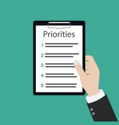 Priorities priority concept vector