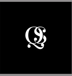 Q s letter logo creative design on black color vector