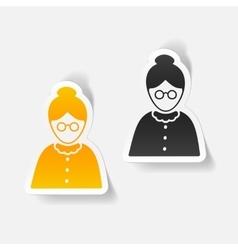 Realistic design element senior citizens vector
