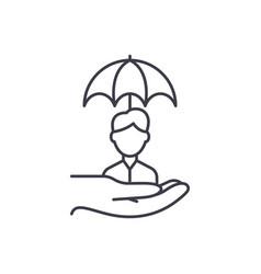 Risk management line icon concept risk management vector