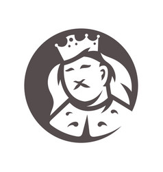 royal king head silhouette sign vector image