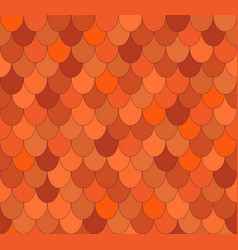 seamless pattern with ovals roof tiles vector image
