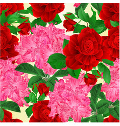 Seamless texture stem flower red rose vector