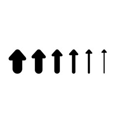 Set arrows and directions signs up different vector