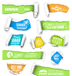 Set of torn paper vector