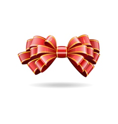 shiny red ribbon vector image