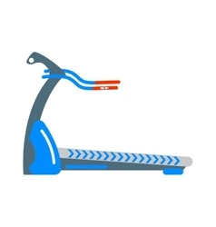 Stationary exercise bike sport gym machine health vector image