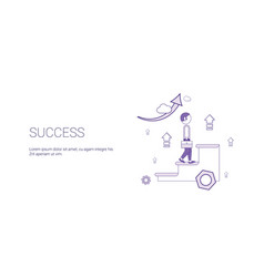 success web banner with copy space business vector image
