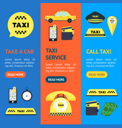 taxi transportation service set vector image