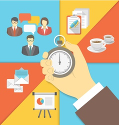 Time Management Business Concept vector