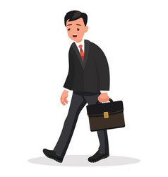 tired office worker stress at work concept vector image