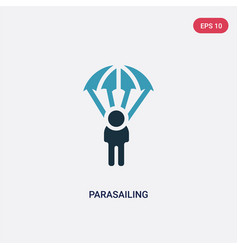 two color parasailing icon from travel concept vector image