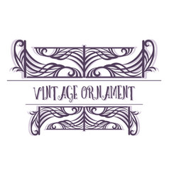 vintage contour pattern vector image