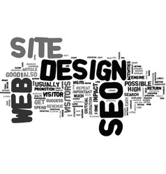 What you need to know about seo web design text vector