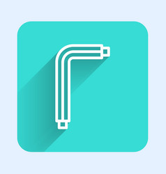 White line tool allen keys icon isolated with long vector