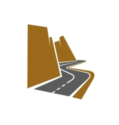 Winding mountain road or highway vector