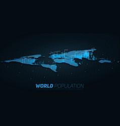 World population map big data vector