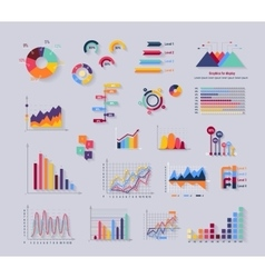 Data Tools Finance Diagramm and Graphic vector image vector image