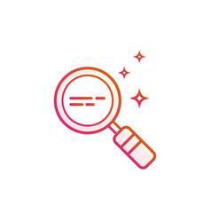 Magnifying glass line icon magnifier or vector